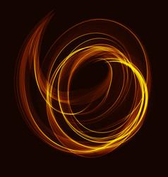 Fractal art background with color spiral waves vector