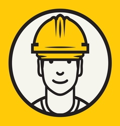 Hard hat safety - construction worker sign vector