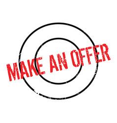 Make an offer rubber stamp vector