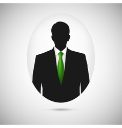 Male person silhouette profile picture whith green vector