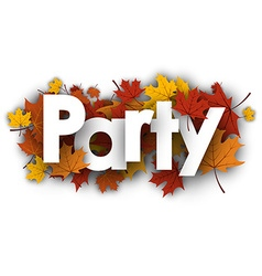 Party background with maple leaves vector image vector image