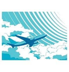 passenger plane in sky vector image
