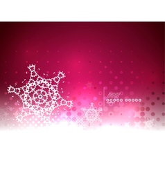 Red magic sky and snow winter abstract background vector image vector image