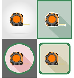 Repair tools flat icons 08 vector