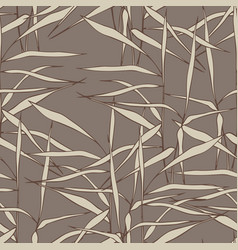 Seamless pattern with grass on a brown background vector