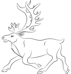 Silhouette of deer outline vector