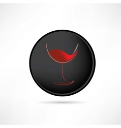 Tasting red wine icon vector