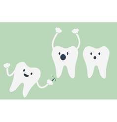 teeth be pained because wisdom tooth vector image vector image