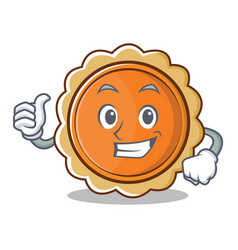 thumbs up pumpkin pie character cartoon vector image