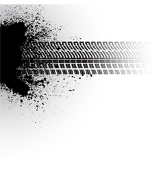Tire track banner vector