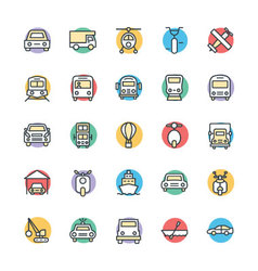 Transport Cool Icons 3 vector image