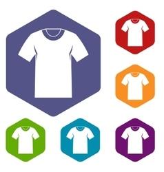 Tshirt icons set vector