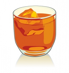 whiskey glass vector image vector image