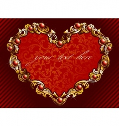 valentine background with rubies vector image