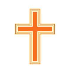 Religious cross symbol icon vector