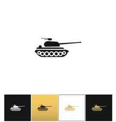 Military tank sign or fire warfare artillery vector image