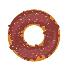 Silhouette donut with colored sparks vector