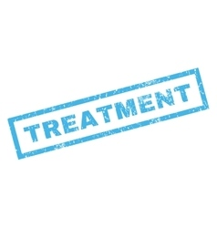 Treatment rubber stamp vector