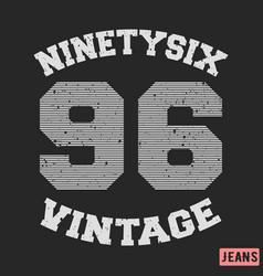 ninety six vintage stamp vector image