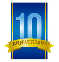 ten years anniversary label vector image
