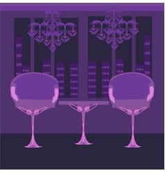 Elegant interior restaurant vector