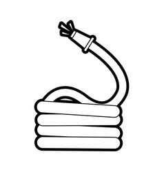 Hose gardening tool icon image vector