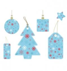 snowflake gift tags vector image