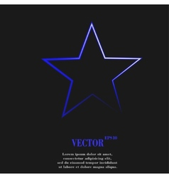Star flat modern web button and space for your vector