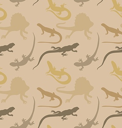 Seamless pattern with lizards vector