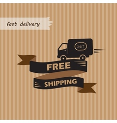 Free shipping on craft background vector