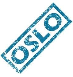 Oslo rubber stamp vector