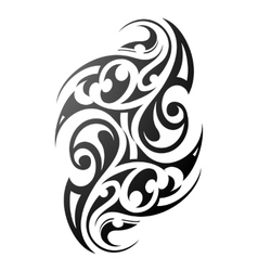 Maori style arm tattoo vector