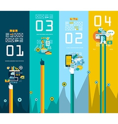 Flat style ui icons for infographics vector