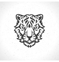 Tiger face logo emblem template mascot symbol vector