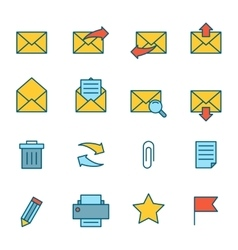 Email icons flat vector