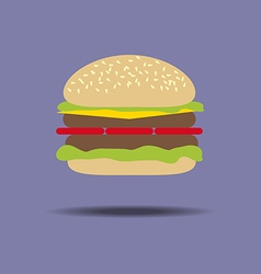 Hamburger cheeseburger food vector