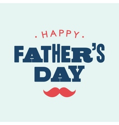 Fathers day card letterpress vector