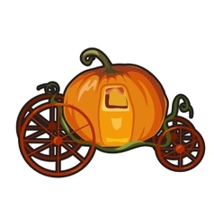 Fairytale pumpkin carriage for princess vector