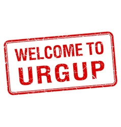 Welcome to urgup red grunge square stamp vector