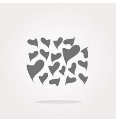 Valentine heart sign set web button vector image