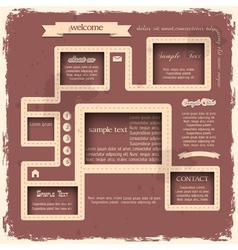 Retro style web design vector image