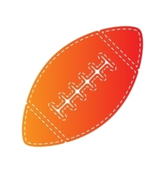 American simple football ball orange applique vector