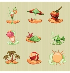 Summer icon pack vector
