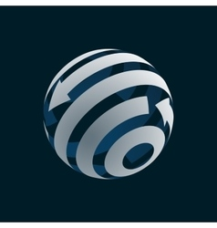 Abstract Globe Logo Element vector image