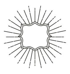 Art deco style linear frame vector