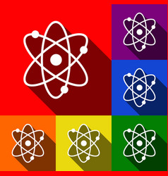 atom sign set of icons with vector image vector image