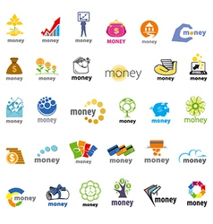 biggest collection of logos money finance vector image