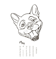 calendar for 2018 with portraits of dogs vector image vector image