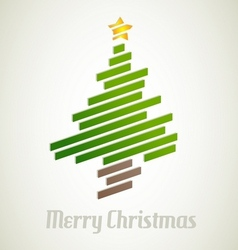 Christmas tree from stripes - modern christmas vector image