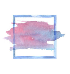 colorful watercolor grunge frame vector image vector image